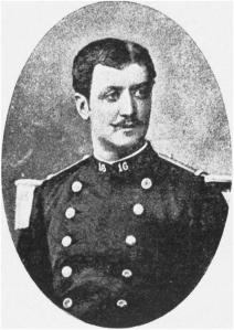René NORMAND au 16° groupe de Chasseurs à pied On remarque le chiffre 16 brodé sur le col de l'uniforme. Frontispice du recueil des « Lettres du Tonkin ».