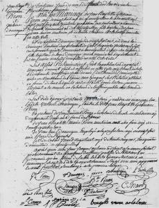 Acte de mariage de Germain Piron et Victoire Domergue en l'an X (Source : Archives départementales de l'Hérault, 3 E 177/128 vue 130).